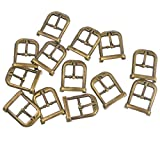 Souarts Bronze Tone Color Metal Shoe Buckle Accessory Haberdashery Embellishment Findings Pack of 30pcs