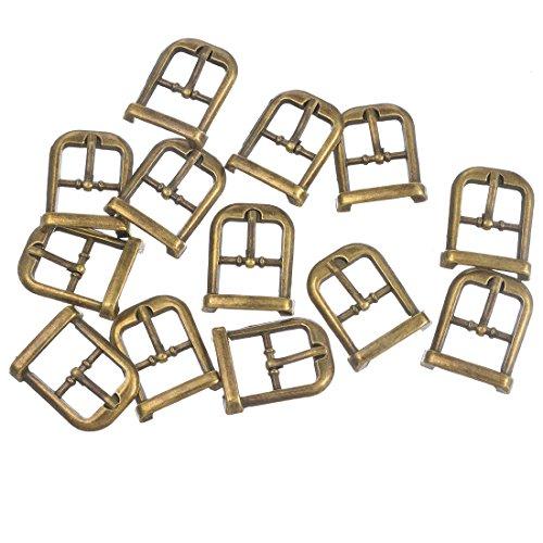 Rainbabe Schnalle Metall Silber Gold Ton Farbe DIY Schuh Nähzubehör Kurzwaren Verzierung Ergebnisse 30 Stück (Gold)