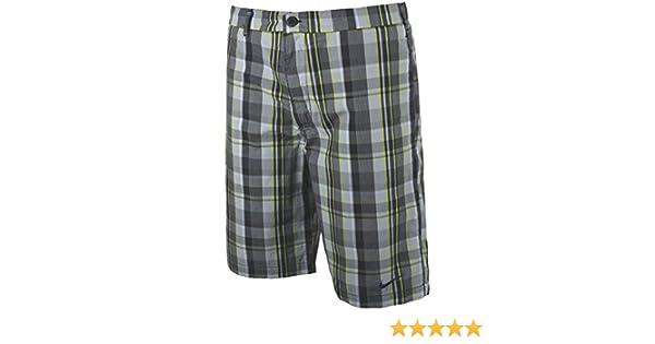 Nike Sideline Athletic Department 100% Cotton Black Plaid Woven Shorts  481498-010  Amazon.co.uk  Sports   Outdoors c64e29d46f7