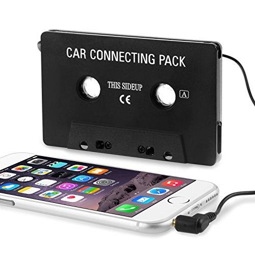 SODIAL(TM) Auto Stereo Audio Tape Cassette Adattatore nero