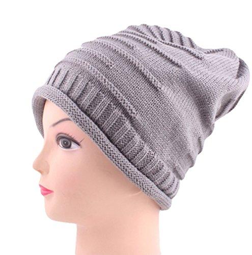 Da. WA lana cappello autunno inverno caldo cappello caldo Grey