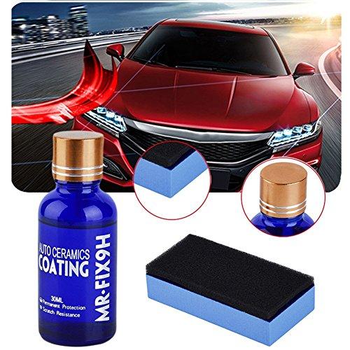 ILOVEDIY 4 Packs Mr Fix 9H Voiture Super Hydrophobe Revêtement Verre de Voiture Liquide Céramique Manteau Auto Peinture Soins Voiture Nano Anti-Scratch (1 Pack)