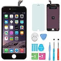 HSX_Z Remplacement Retina écran Tactile Noir Ecran LCD Vitre Tactile pour iPhone 6 avec Kit de Réparation et La Protection d'écran Pour iPhone 6-Noir