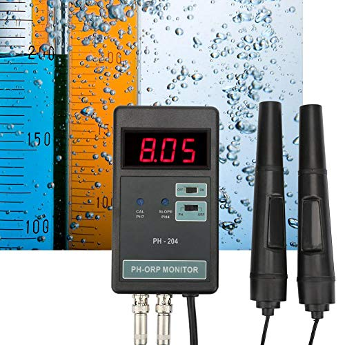 Digital PH Messgerät,PH Monitor OW-204 Digitales PH/ORP-Wasserqualitätstester Wassertester PH Redox Messgerät Online PH/Redox Meter,pH: 0,00~14,00,ORP: -1999~1999 mV(eu)