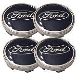 Aftermarket Aufkleber für Alufelgen, 60 mm, passend für Ford – Blau, 4 Stück