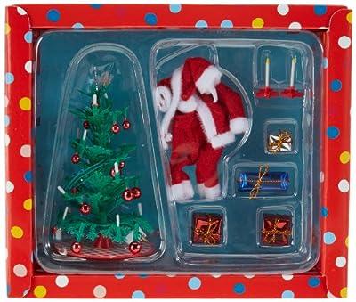 Lundby Småland 60.6034.00 - Set de Navidad en miniatura con árbol y regalos para casa de muñecas (escala 1:18) por Lundby