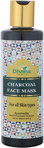 Divine India Charcoal Face Mask, 200 ml