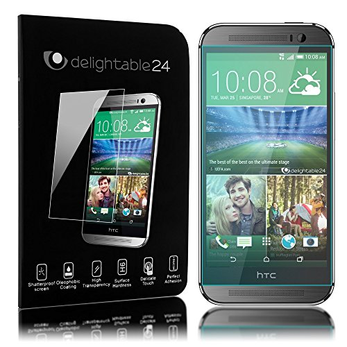 delightable24 Pellicola Protettiva Vetro Temprato Glass Screen Protector Smartphone HTC ONE M8 / M8S - Transparente