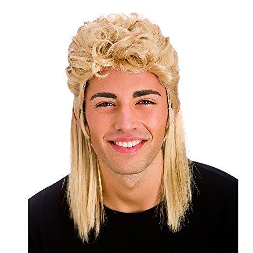 Blonde 80er Jahre Stil Mullet Perücke Zubehör für Karneval / Halloween (Meeräsche 80er)
