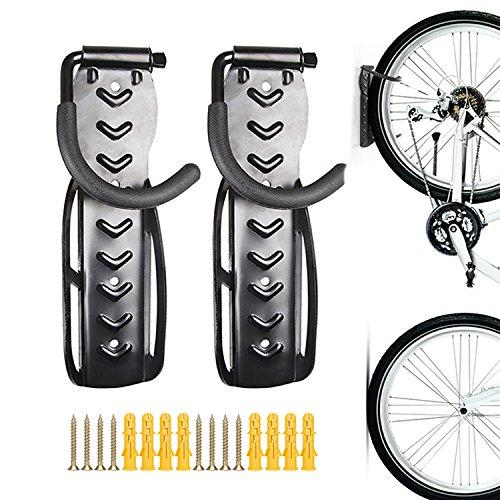 Fahrrad-Aufbewahrungshaken, zur Wandmontage, Halter, Aufhänger, Wand-Ständer, für Garage, 2 Stück.