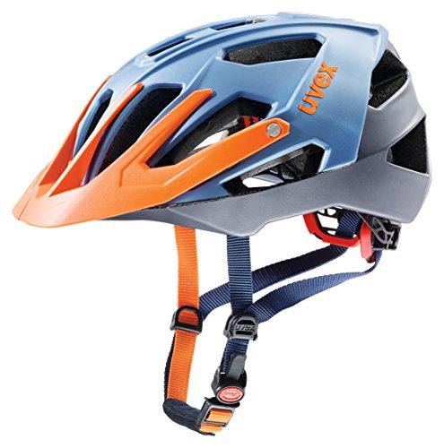 Uvex Quatro - Casco de Bicicleta - Naranja/Azul Contorno de la Cabeza