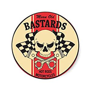 2 #mean old bastards#12 cm skull tête de mort/croix de piston ratlook conseil kérosène oldschool hot rod decal harley autocollants pour tuning auto moto pick up
