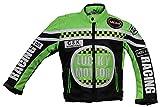 Kinder Motorrad Jacke, Bikerjacke, Racing Jacke grün, (L)