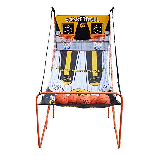 Aro De Baloncesto Juego De Doble Arcade Deportivo Estante De Baloncesto Plegable Al Aire Libre Sistema De Tiro De PuntuacióN ElectróNica -43 * 79 * 81in