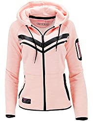 Geographical Norway Sudadera con Cierre Fluence Rosa XL (FR 4)
