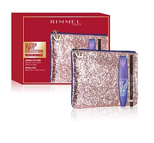 Rimmel - Confezione Regalo - Glitter Party Collection - Pochette con Mascara Ultra Volume Scandaleyes Wow  e Matita Occhi Tratto Preciso Special Eyes