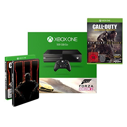 Xbox One 500GB Forza Horizon + Call of Duty: Black Ops III - Standard inkl. Steelbook + Call of Duty: Advanced Warfare - Day Zero Edition