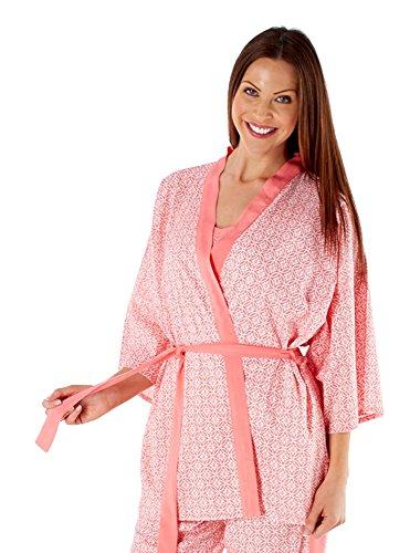 Selena Secrets - Vestaglia - Kimono - Maniche a 3/4 -  donna Rosso