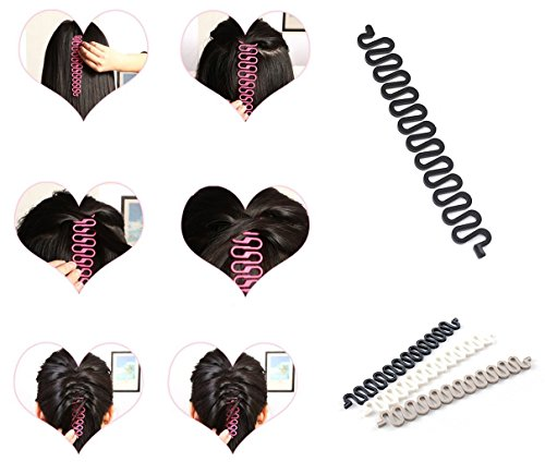 takestop® Set 2 Pezzi PL Serpente Accessori per Capelli French Treccia TRECCE Perfetta Criss Crosser ACCONCIATURA Styling Donna