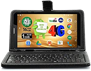 IKALL N4 (1+16GB) 4G Volte Calling Tablet With Keyboard - Black