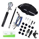 COZYROOMY Multifonctionnel Kit de réparation de Pneu de vélo - Mini Pompe 210 psi, Outil 10 en 1...