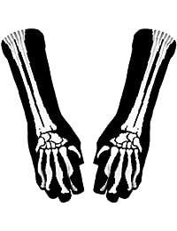 Armstulpen Handschuhe - Skelett Hand