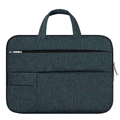 "Shopizone Polyester 14"" Dark Teal Laptop Briefcase"