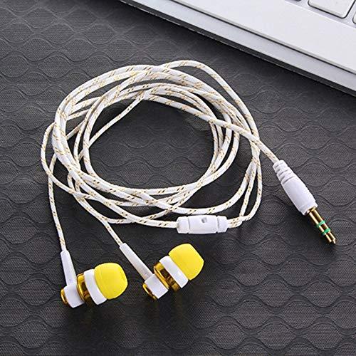 Eduton Leichtgewicht In-Ear-Ohrhörer Subwoofer Geflochtene Wiring-Kopfhörer mit Mikrofon - Geflochten Mit Kopfhörer Mikrofon