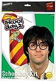 Smiffys Déguisement Homme - Panoplie de l'écolier - avec perruque et lunettes - Couleur: Noir - 21225
