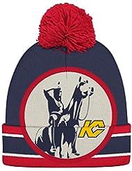 "Kansas City Scouts CCM NHL ""Split Logo"" Cuffed Knit Hat Chapeau with Pom"