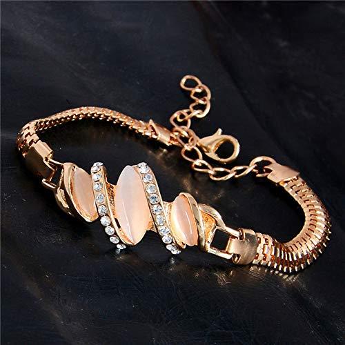 WODESHENGRI Armbänder,Charme Frauen Schmuck Gold Farbe Niedlichen Crystal Stein Fashion Armbänder Für Den Täglichen Hochzeit Tragen (Hochzeit Niedlichen Farben)