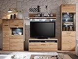 "Wohnwand TV-Wand Mediawand Schrankwand Wohnzimmerwand Anbauwand ""Medina II"" inklusive Beleuchtung"