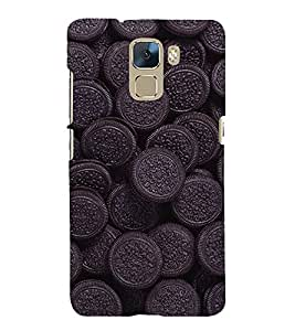 Biscuit Wallpaper 3D Hard Polycarbonate Designer Back Case Cover for Huawei Honor 7