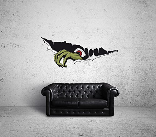 Monster Hand Wallart Certified Freak 150 x 58 cm (Böse Teufel Kostüm)