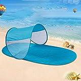 Tente de Soleil sur la Plage | Abris solaires UV | Auvent Pliable d'auvent de Parasol...