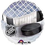 "Black & White Net and Hockey Puck & Stick 18"" NHL Mylar Balloon"