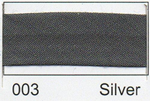 Polycotton Schrägband 25 mm - (2,5 M) Silbergrau