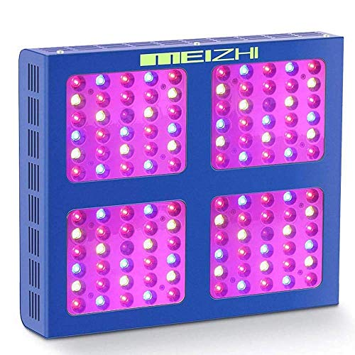 MEIZHI LED Grow Lampe Reflektor 600W Pflanzenlampe Vollspektrum with Daisy Chain Wachstumslicht LED Grow Light Full Spectrum für Zimmerpflanzen, Gemüse, Blumen