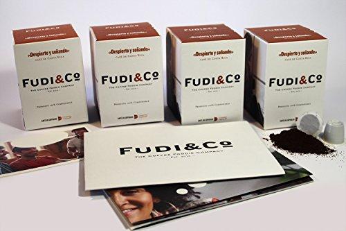 Fudi & Co WACH UND TRÄUMEND - Spezial Kaffee aus Costa Rica - 4 Packungen mit 10 Kapseln Nespresso ® kompatibel - 100% Kompostierbare