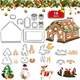 18 Stück 3D Weihnachten Ausstechformen Edelstahl // Ausstecher Set für Kekse, Plätzchen und Fondant