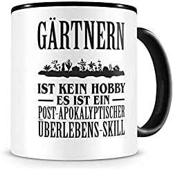 Samunshi® Gärtnern ist kein Hobby Tasse Kaffeetasse Teetasse Kaffeepott Kaffeebecher Becher