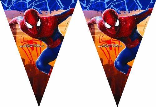 Procos 83131 - Filare Bandierine Amazing Spider Man 2, 2.3M, Rosso/Blu