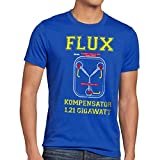 style3 Flux Kompensator Herren T-Shirt Game Gamer Zukunft Zurück Zeitreise, Farbe:Blau, Größe:5XL
