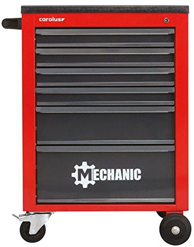 CAROLUS Werkstattwagen Mechanic, 6 Schubladen, rot/anthrazit, 1 Stück, 2046.10