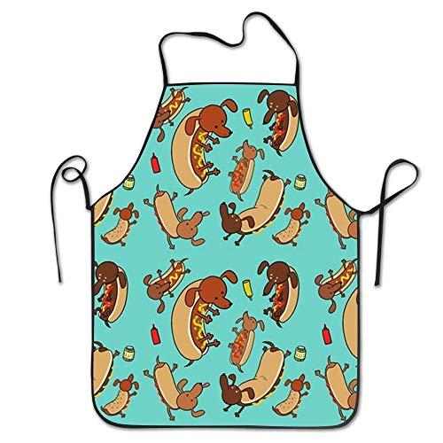 AORSTAR Non-Toxic Sausage Dog Chef Sch¨¹rzens Made of Super Soft BBQ Terry Cloth Prepare for Family Man Materia,Eco-Friendly Art Decor Tie-Dye - Terry Tie Dye