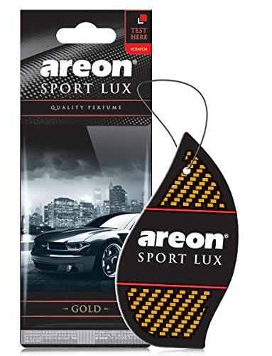Areon sport Lux qualità Perfume/Cologne cartone auto deodorante sport Lux oro (confezione da 5)