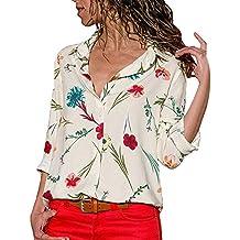 Blusas para Mujer,Blusas para Mujer Elegantes Tops Mujer otoño Las Mujeres de Moda Solapa