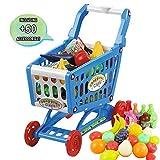 deAO Carrito de la Compra Infantil Incluye Variedad de 72 Productos de...