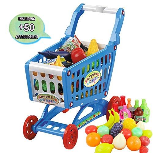 DeAO Carrito Compra Infantil Incluye Variedad 50 Productos
