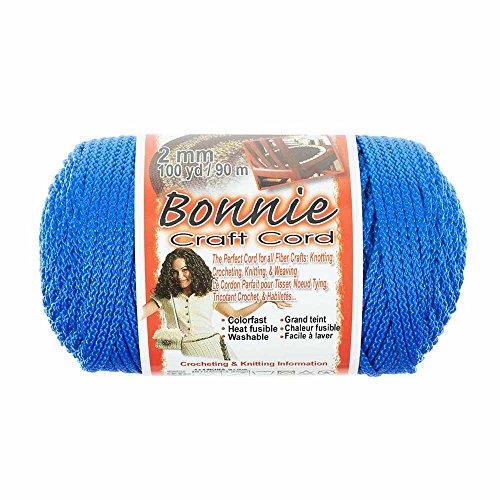 2mm Bonnie, Kordel-Ideal für Makramee, stricken, und Weben Handwerk-100Yard Spulen 100 Yards königsblau - Unternehmen Store-kissen